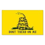 Don't Tread on Me Sticker (Rectangle 10 pk)