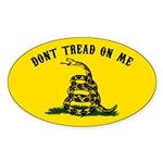 Don't Tread on Me Sticker (Oval 10 pk)