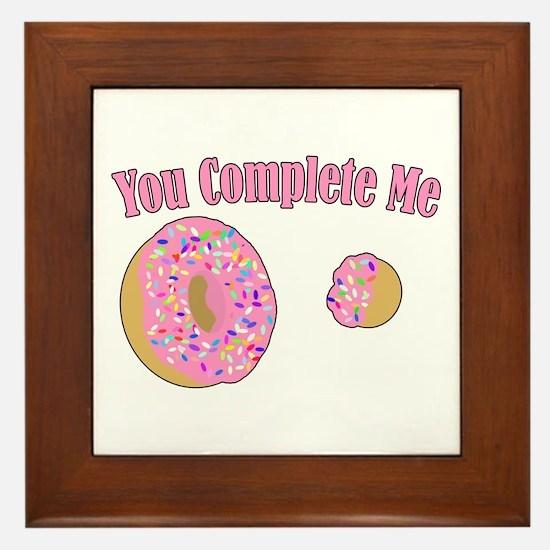 You Complete Me Framed Tile
