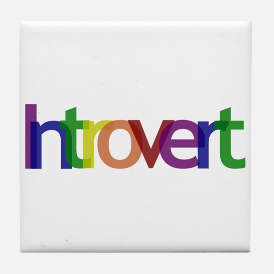 Introvert Colors Tile Coaster
