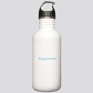 Will Poop For Treats Stainless Water Bottle 1.0L
