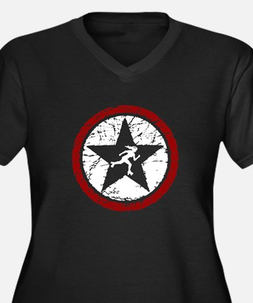 ROLLER DERBY JAMMER STAR Women's Plus Size V-Neck