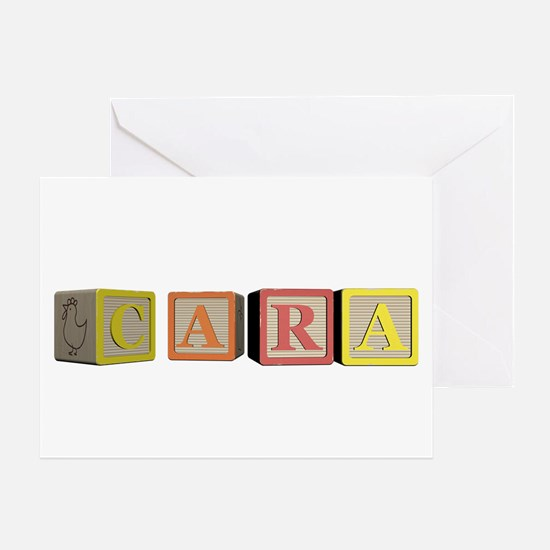 Cara Alphabet Block Greeting Card