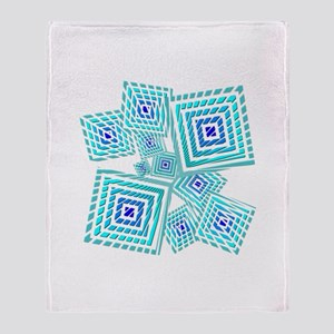 Atomic Blue Prizm Throw Blanket
