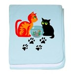 Fish Bowl Kitty baby blanket