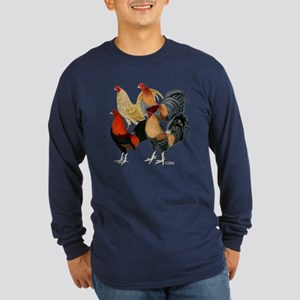 Four Gamecocks Long Sleeve Dark T-Shirt