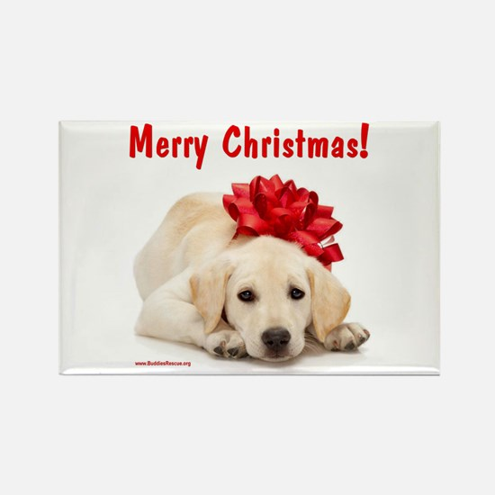 Christmas Lab Puppy Rectangle Magnet