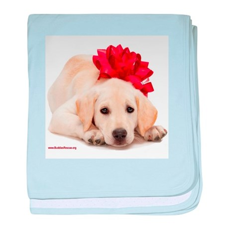 Christmas Lab Puppy baby blanket
