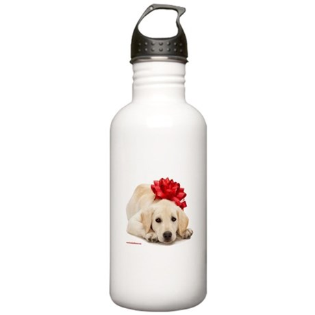 Christmas Lab Puppy Stainless Water Bottle 1.0L