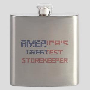 America's Greatest Storekeeper Flask