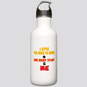 One Night Stand Equals Me Stainless Water Bottle 1