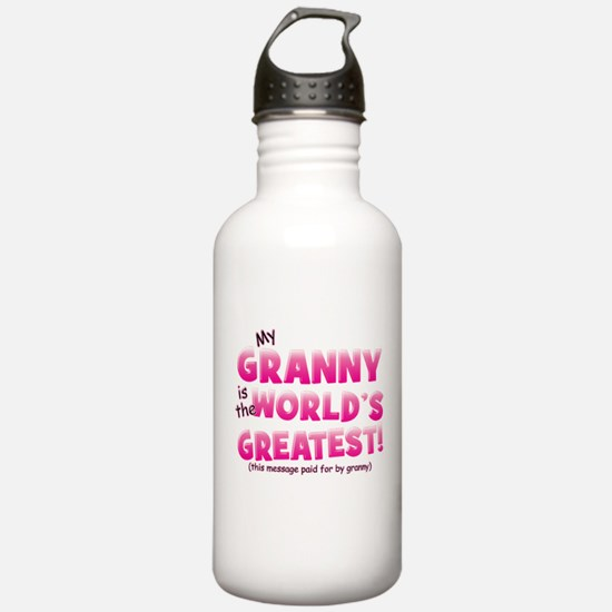 World's Greatest Granny (pink Water Bottle