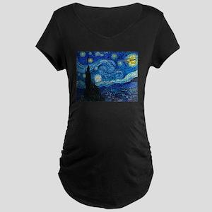 Starry Trek Night Maternity Dark T-Shirt