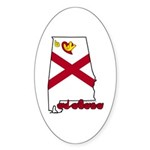 ILY Alabama Sticker (Oval 50 pk)