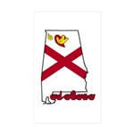 ILY Alabama Sticker (Rectangle 10 pk)
