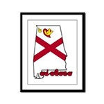 ILY Alabama Framed Panel Print
