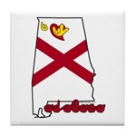 ILY Alabama Tile Coaster