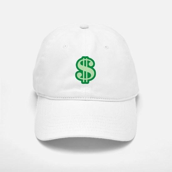 Dollar Sign Baseball Baseball Cap