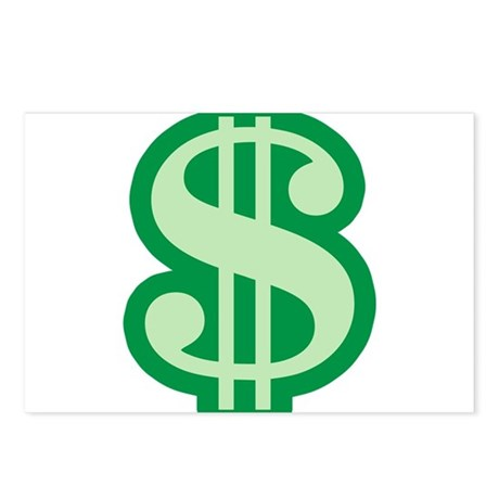 Dollar Sign Postcards (Package of 8)