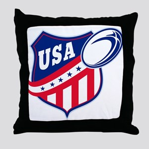 American rugby usa Throw Pillow