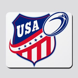 American rugby usa Mousepad