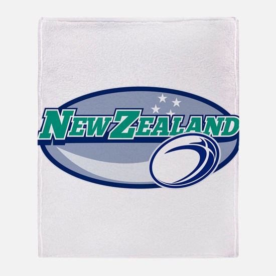 rugby new zealand Throw Blanket