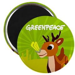 Green Rudolph Magnet