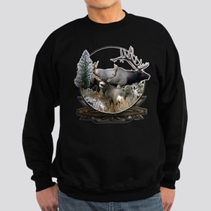 Big game elk and deer Sweatshirt (dark)