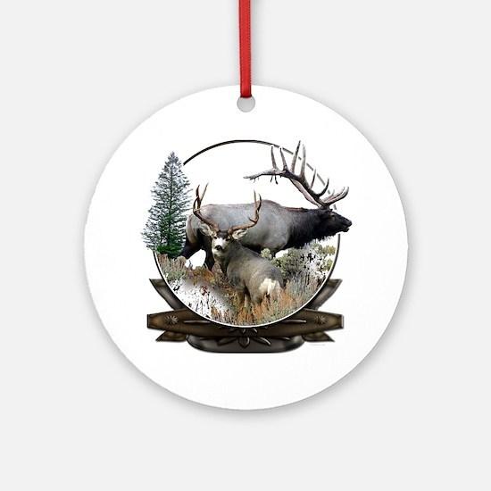 Big game elk and deer Ornament (Round)