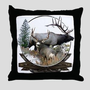 Big game elk and deer Throw Pillow