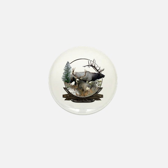 Big game elk and deer Mini Button