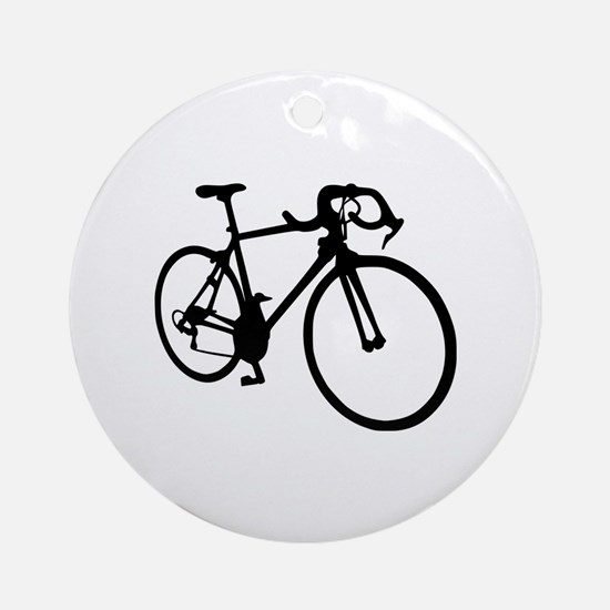 Racing bicycle Ornament (Round)