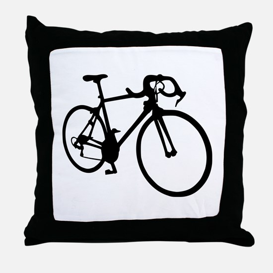 Racing bicycle Throw Pillow