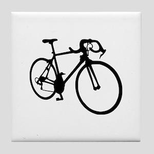 Racing bicycle Tile Coaster