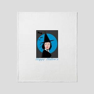 Happy Hallow's retro witch Throw Blanket