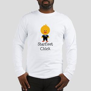 Starfleet Chick Blue Long Sleeve T-Shirt
