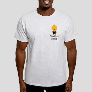 Starfleet Chick Blue Light T-Shirt
