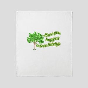 Hug A Tree Throw Blanket
