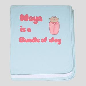 Maya is a Bundle of Joy baby blanket