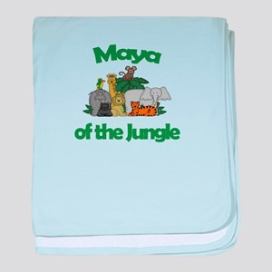 Maya of the Jungle baby blanket