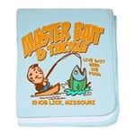 Master Bait Tackle baby blanket