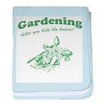 Gardening Helps baby blanket