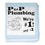 P P Plumbing baby blanket