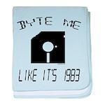 Byte Me 1983 baby blanket