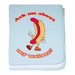 Ask Me Weiner baby blanket
