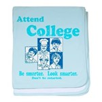 Attend College baby blanket