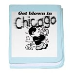 Blown in Chicago baby blanket