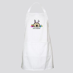 Golden Easter Bunny BBQ Apron