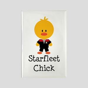 Starfleet Chick Red Rectangle Magnet