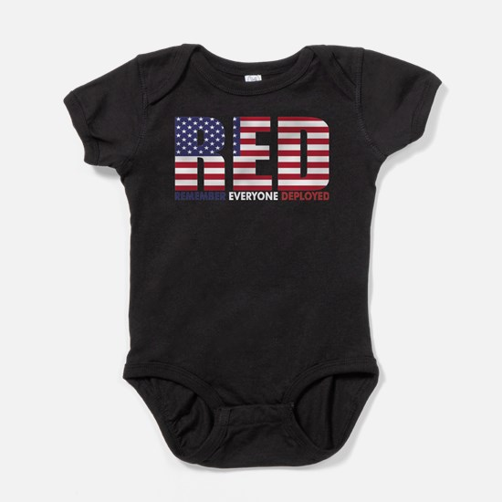 Red Remember Everyone Deployed Body Suit